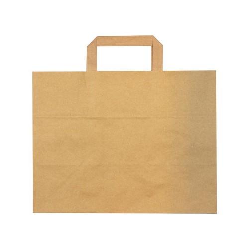 52.0090 FSC papieren blokbodemtas 32x18x26cm bruin