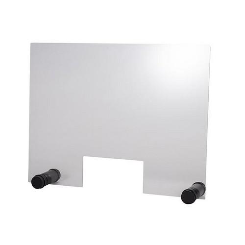 hoestscherm acryl rond zwart 75x57