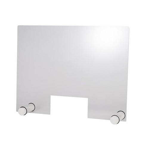 hoestscherm acryl rond wit 75x57