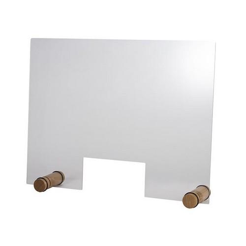 hoestscherm acryl rond oak 75x57