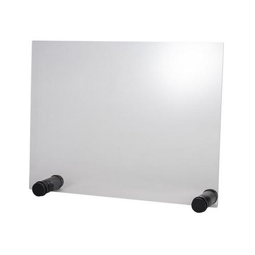 hoestscherm acryl rond zwart zonder opening 75x57CM