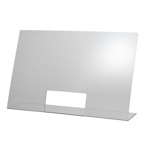hoestscherm acryl 75x18CM