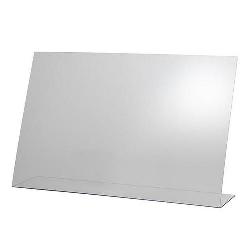 hoestscherm acryl zonder opening 75x18CM