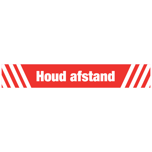 Houd afstand rood