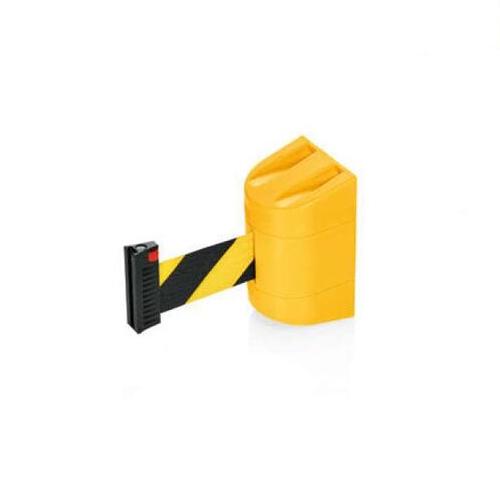 Afzetband voor wandmontage 200cm geel zwart