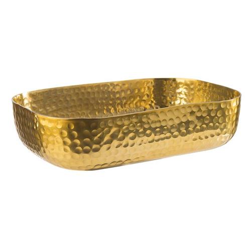 Schaal gehamerd afm 23x15.5cm goud look