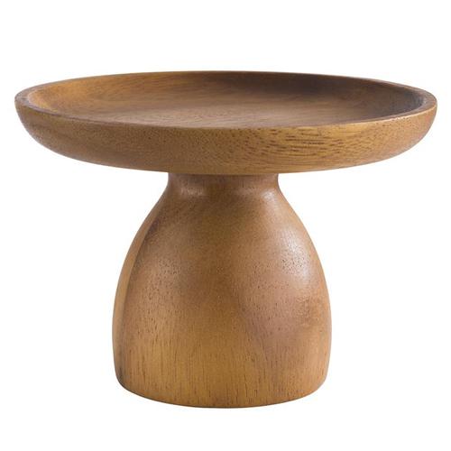 Taartstand mini diam 13cm hgt 9cm acacia hout