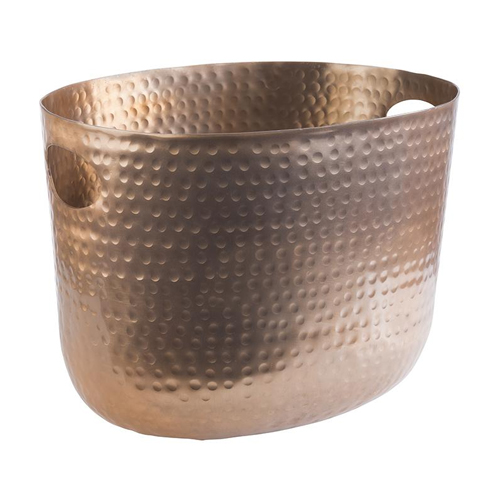 Wijn champ bowl gehamerd afm 30x23.5 koper