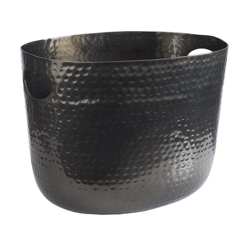 Wijn champ bowl gehamerd afm 30x23.5 gunmetal