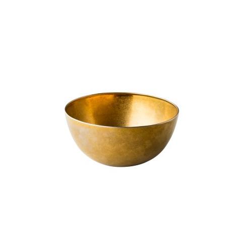 Kom diam 20 rvs vintage goud