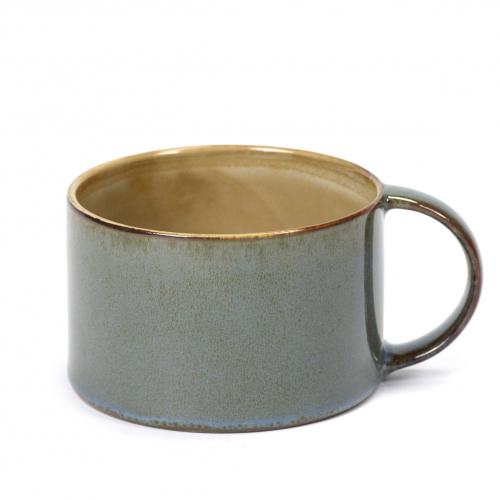Koffiebeker diam 8cm kleur misty grey smokey blue