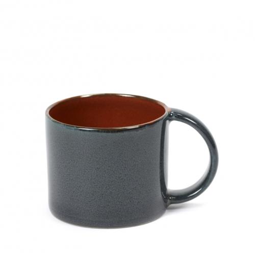 Espressobeker diam 6cm kleur rust dark blue