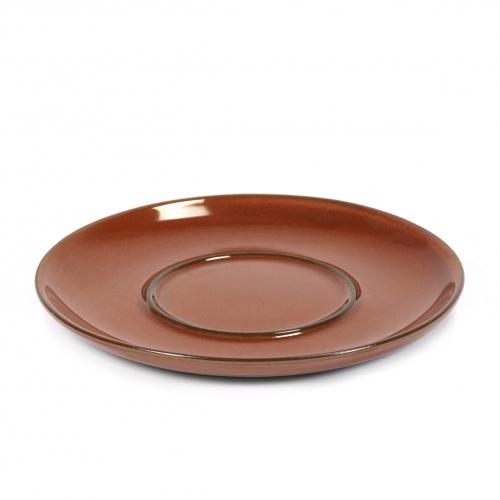 Espresso schotel diam 13.5cm kleur rust