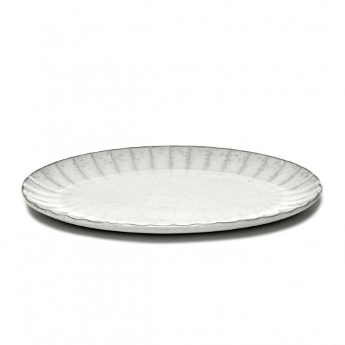 Bord ovaal l wit inku inku tableware by sergio herman