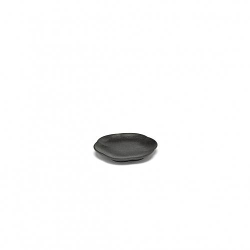 Bord geribbeld s zwart inku inku tableware by sergio herman