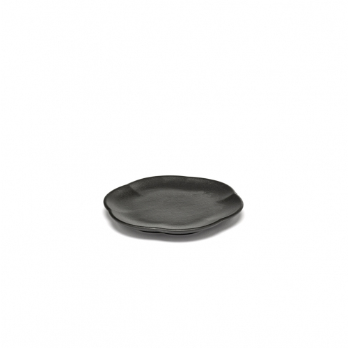 Bord geribbeld m zwart inku inku tableware by sergio herman