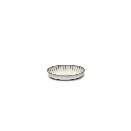 Serveerkom ovaal wit inku tableware by sergio herman
