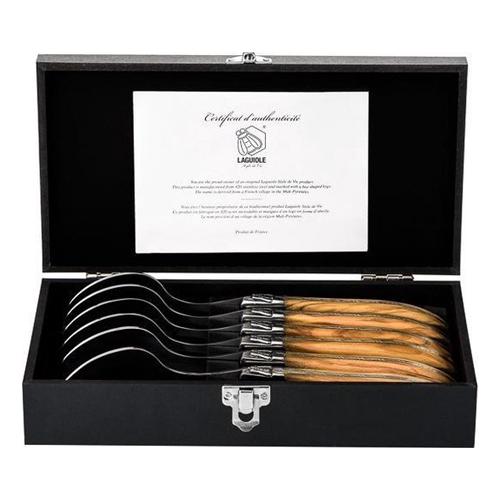 Luxury line lepels olijfhout