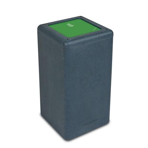 Afvalbak circulaire inh 65l organic grijs brickbin
