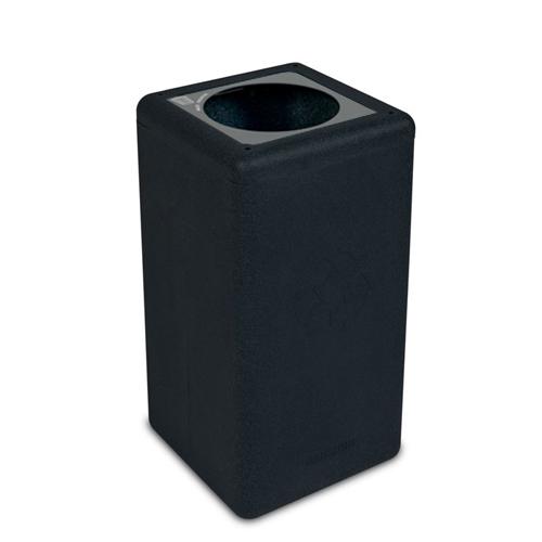 Afvalbak circulaire inh 65l waste zwart brickbin