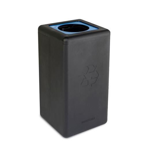 Afvalbak circulaire inh 65l paper zwart brickbin