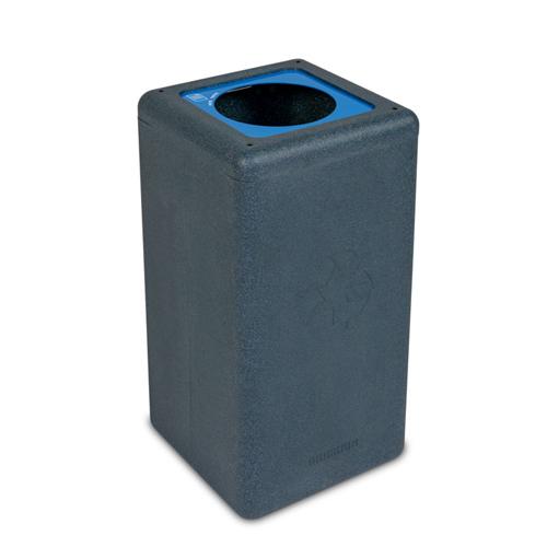 Afvalbak circulaire inh 65l paper grijs brickbin