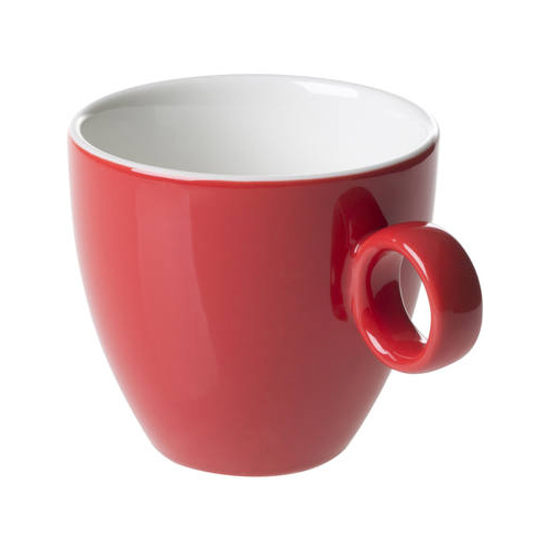 Koffiekop inh 17cl model 928 kleur rood Bart Maastricht Porselein