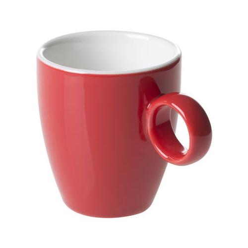 Espressokop inh 6.5cl model 925 kleur rood Bart Maastricht Porselein