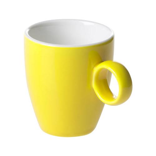 Espressokop inh 6.5cl model 925 kleur geel Bart Maastricht Porselein