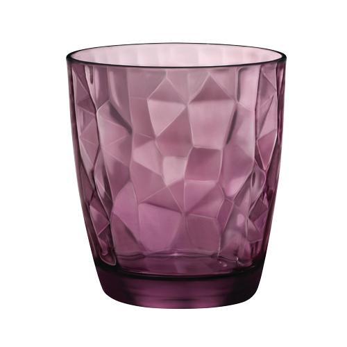Drinkglas diamond dof paars 39cl rocco bormioli