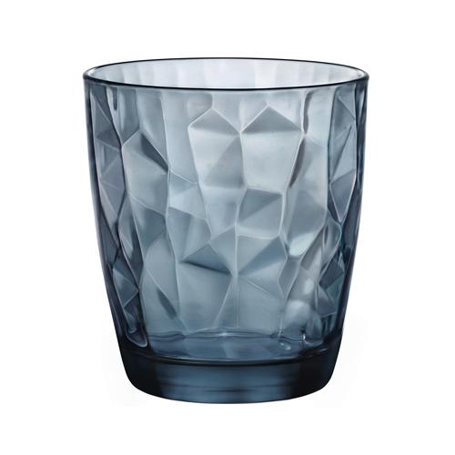 Drinkglas diamond dof blauw 39cl rocco bormioli