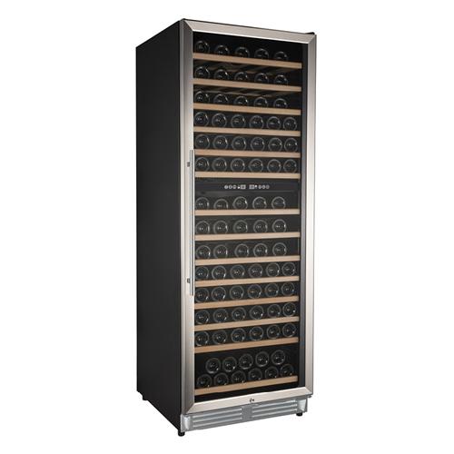 Wijnkoelkast 110 flessen dual zone gastro inox