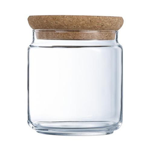 Glazen voorraadpot met kurk 0.75l
