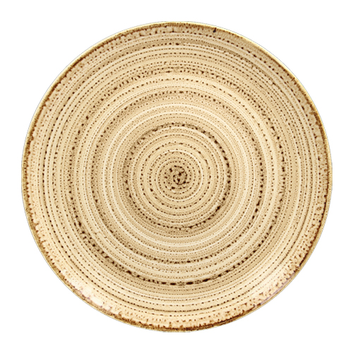 Coupebord plat diam 29cm beach twirl rak porcelain