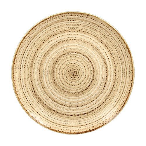 Coupebord plat diam 28cm beach twirl rak porcelain