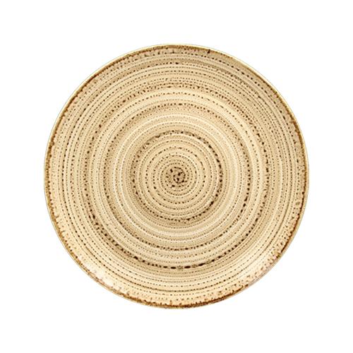 Coupebord plat diam 24cm beach twirl rak porcelain