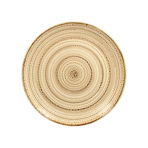 Coupebord plat diam 21cm beach twirl rak porcelain