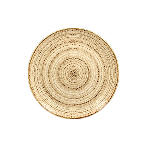 Coupebord plat diam 15cm beach twirl rak porcelain