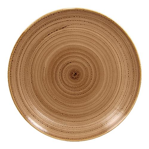 Coupebord plat diam 29cm shell twirl rak porcelain