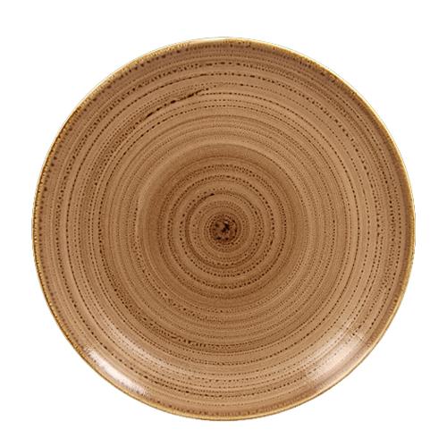 Coupebord plat diam 28cm shell twirl rak porcelain
