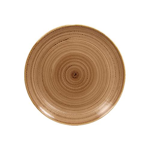 Coupebord plat diam 18cm shell twirl rak porcelain