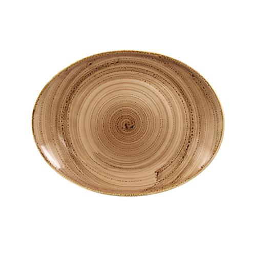 Schaal ovaal afm 32x23cm shell twirl rak porcelain