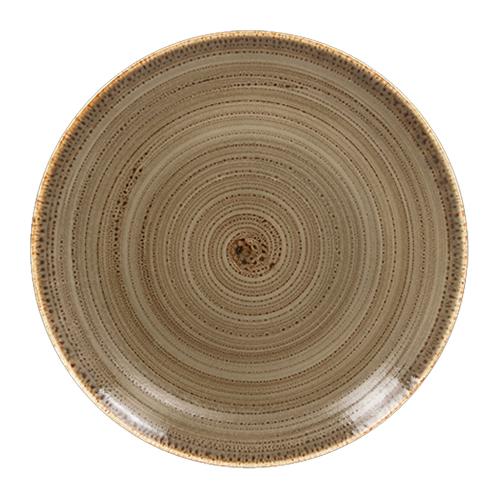 Coupebord plat diam 28cm alga twirl rak porcelain