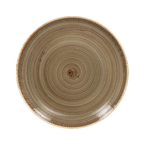 Coupebord plat diam 24cm alga twirl rak porcelain