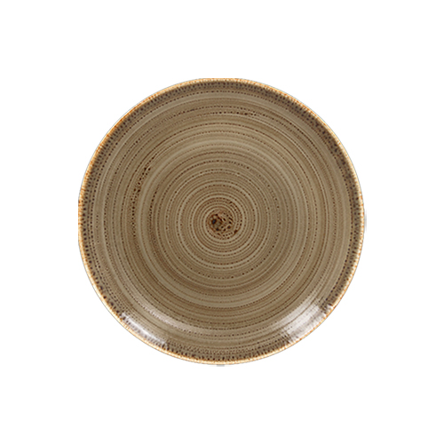Coupebord plat diam 15cm alga twirl rak porcelain
