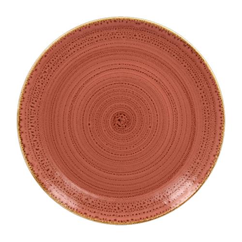 Coupebord plat diam 28cm coral twirl rak porcelain