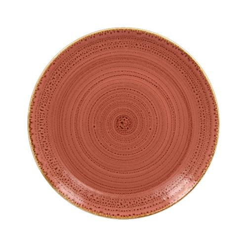 Coupebord plat diam 24cm coral twirl rak porcelain
