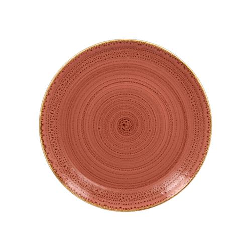 Coupebord plat diam 18cm coral twirl rak porcelain