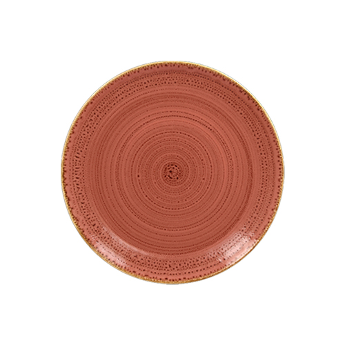 Coupebord plat diam 15cm coral twirl rak porcelain