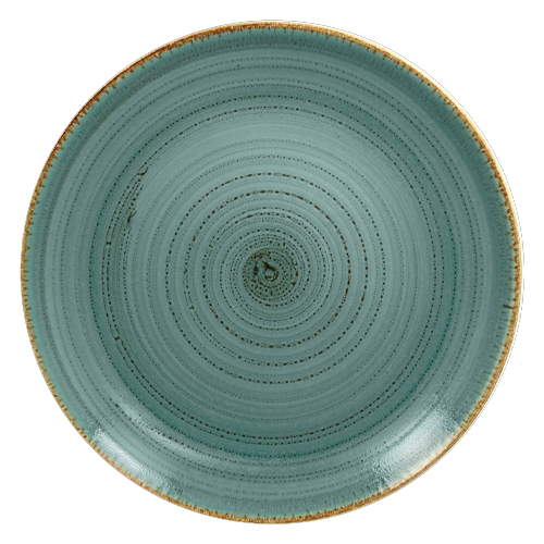 Coupebord plat diam 31cm lagoon twirl rak porcelain
